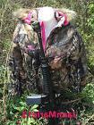 Women's Mossy Oak Camo Camouflage Fur Bubble Jacket Coat w/