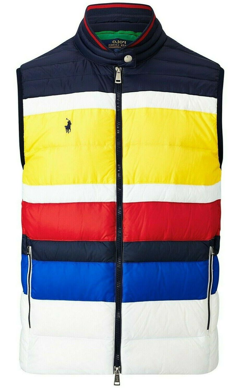 Polo Ralph Lauren Color Block Down Puffer Quilted Packable V