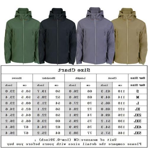 HOT Tactical Shell Jacket Coat Army Windbreaker