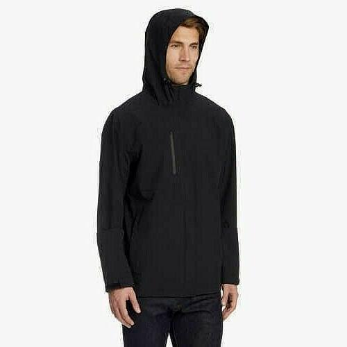 cool mens waterproof rain jacket black sizes