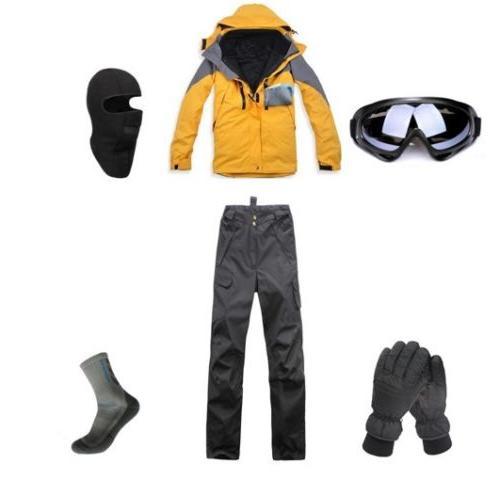 D92 Men Ski Snowboard Jacket Pants Gloves Goggles Balaclava