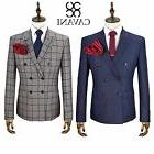 Mens Cavani Double Breasted 2 Piece Suit Blazer Trousers For