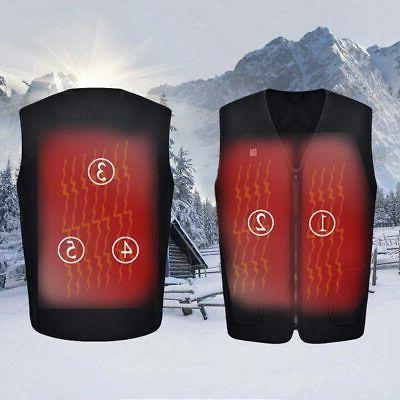 5V USB Electric Heated Winter Warm Vest Men Women Heating Co