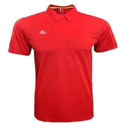 Adidas Mens ESS 3S Polo Short Sleeve Shirt Red Large