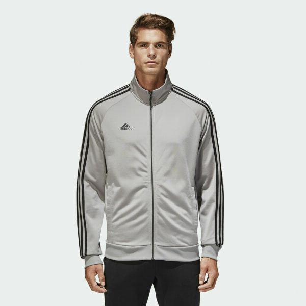 essentials track jacket top tricot solid grey