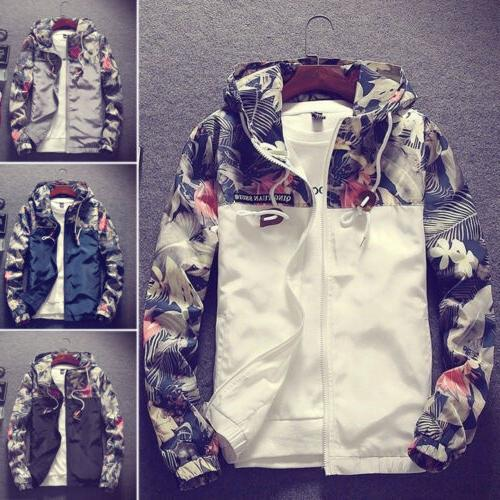 fashion men s casual camo thin hooded