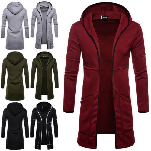 Fashion Men's Winter Trench Overcoat Long