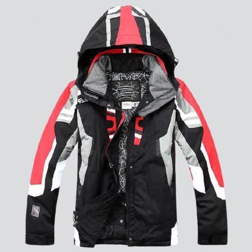 fashion Men warm  Hiking ski suit Jacket Waterproof Coat sno