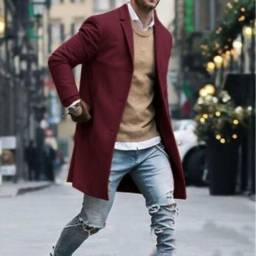 Fashion Mens Winter Overcoat Jacket US