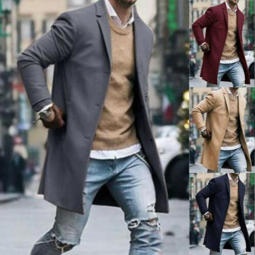 Fashion Wool Winter Outwear Overcoat Sleeve US