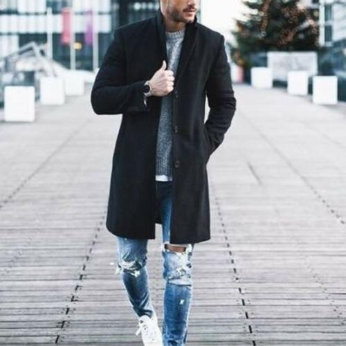 Fashion Wool Overcoat US
