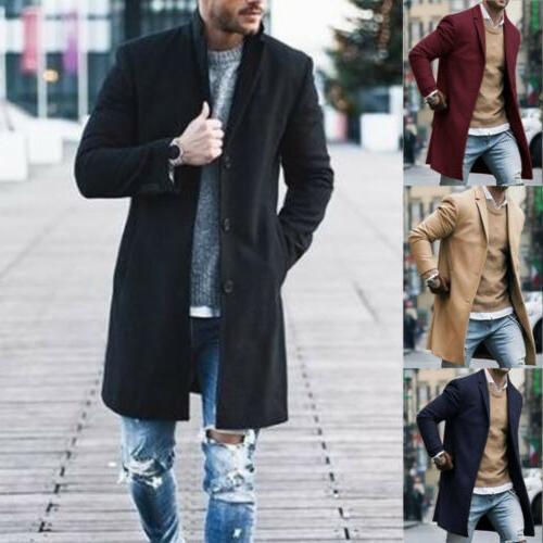 fashion mens wool coat winter trench coat