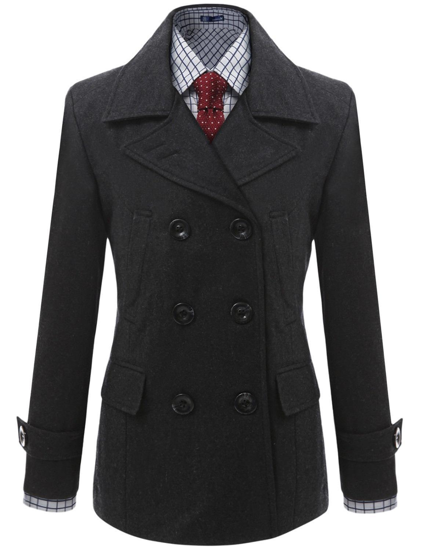 Doublju Casual Wool Jacket