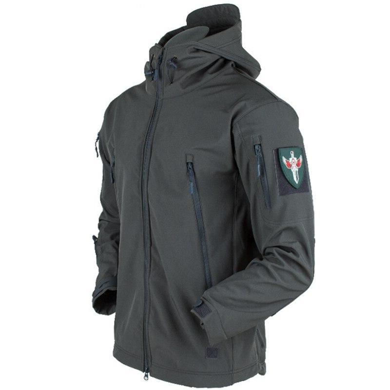 <font><b>Men</b></font> Winter SoftShell <font><b>Jacket</b></font> Waterproof Army Soft <font><b>Shell</b></font> Coat Warm Windbreaker Rain