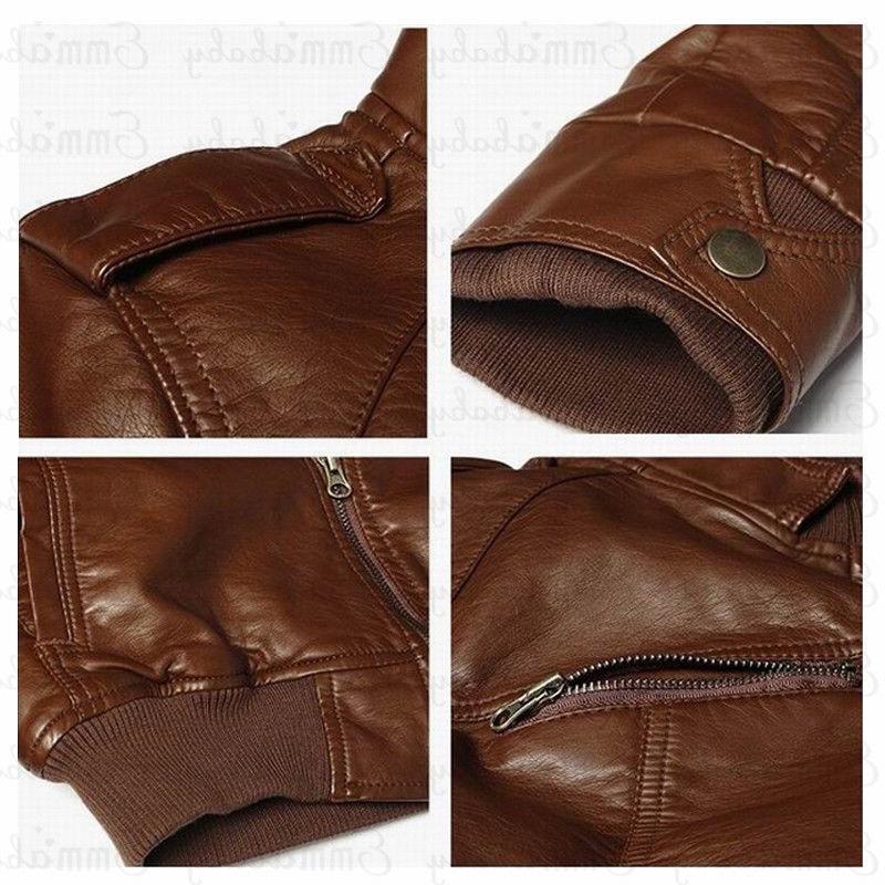 <font><b>Mens</b></font> Leather <font><b>Jacket</b></font> Motorcycle Male Coats M-3XL