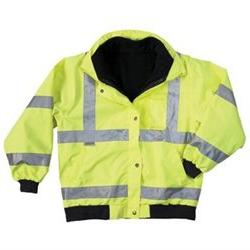 GLoWEAR 8380 Class-3 Bomber Jacket - Size: 2XL, Color: Lime