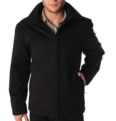 """Alpine Swiss Grant Mens 28"""" Open Bottom Jacket Wool Blend JD"""