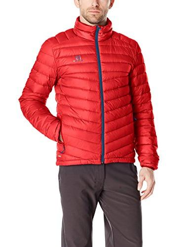 Salomon Mens Halo Down Jacket Top Blue Sports Outdoors