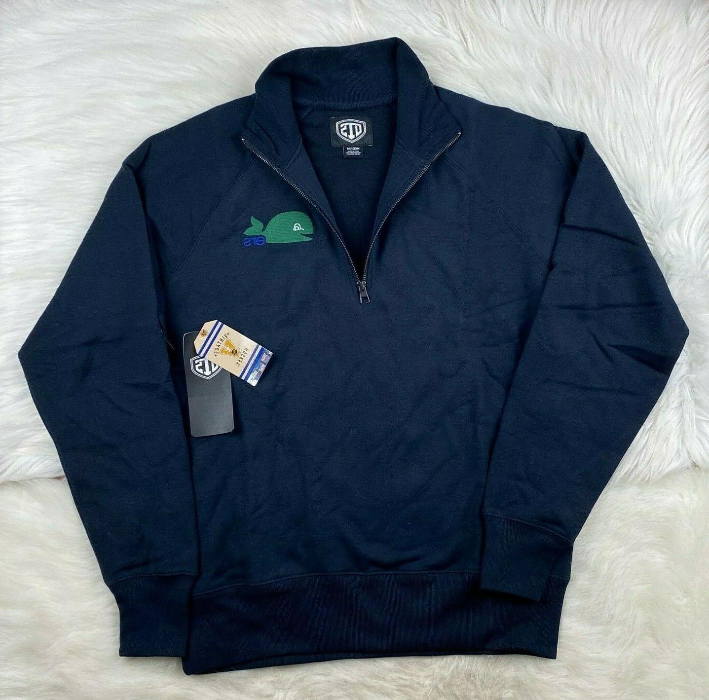 hartford whalers 1 4 zip pullover track