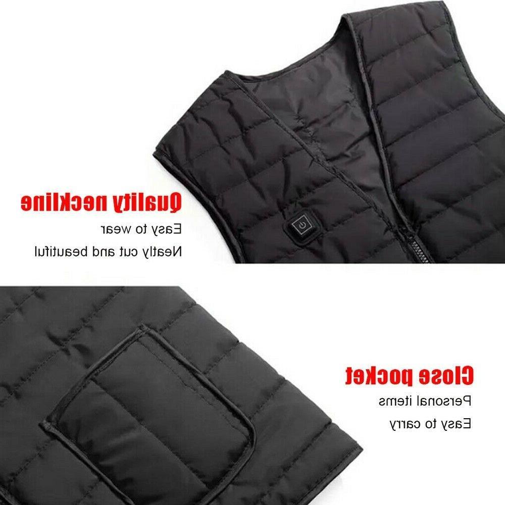 Heated Vest Warm Winter Warm Jacket Men Women Thermal