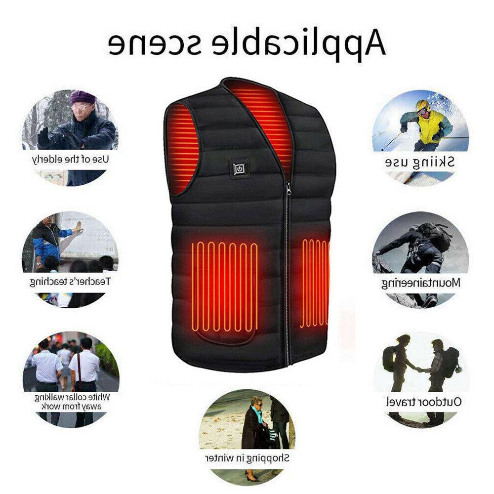 Heated Vest Warm Winter Warm USB Men Thermal