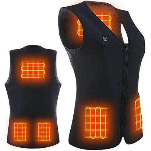 heated vest warm winter warm electric usb