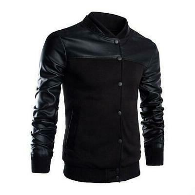 HEFLASHOR Autumn Fashion Motorcycle Jacket slim fit Male
