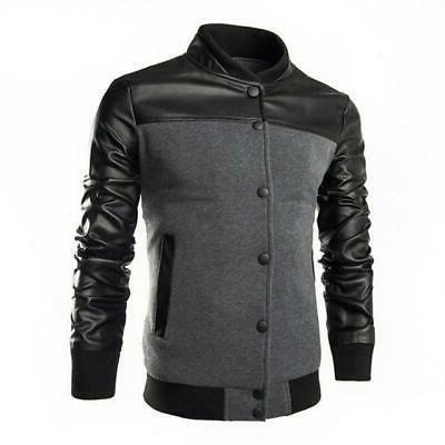 HEFLASHOR Men Motorcycle Leather Jacket fit Male