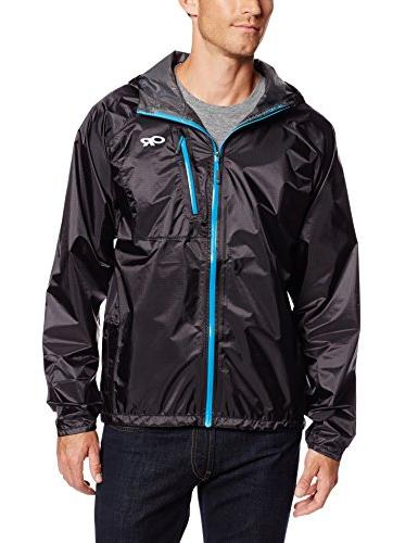 cheap for discount 51b76 b9178 Outdoor Research Men's Helium II Jacket, Black/Hydro, Large