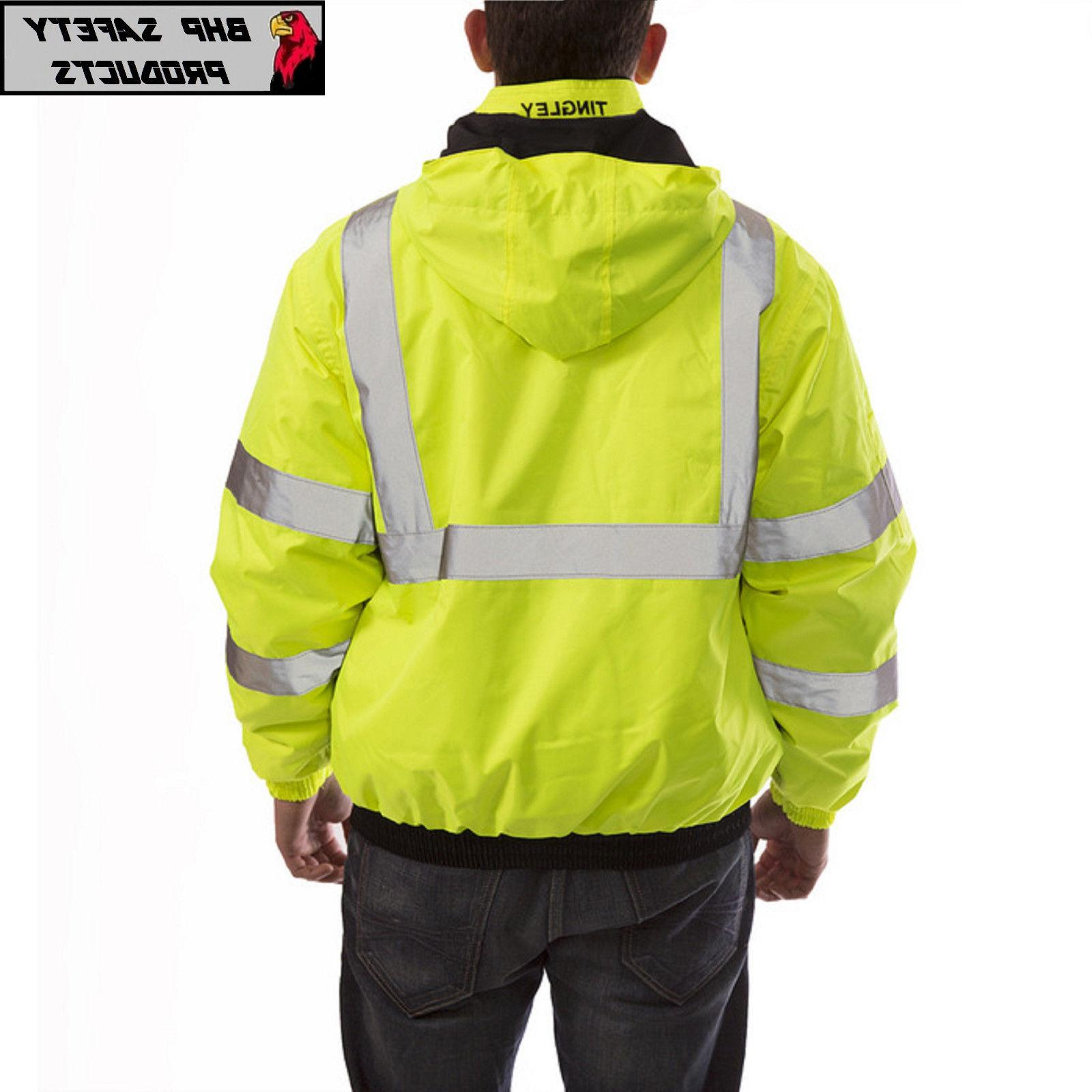 Hi-Vis Insulated Bomber Reflective HIGH