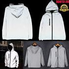 Hot Men/Women 3M Reflective Cycling Hooded Trench Jacket Tra