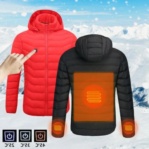 HOT SALE USB Heater Mens Coats Jackets Hunting Vest Heated W