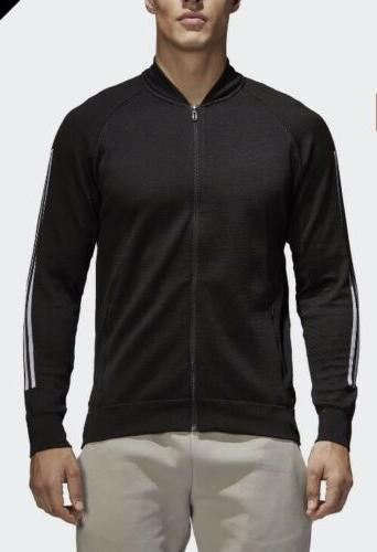 id knit bomber athletic jacket mens sz