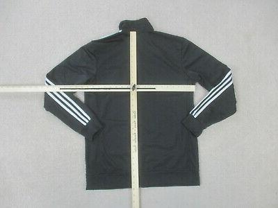 Adidas Jacket Medium Black Zip Coat Mens B73