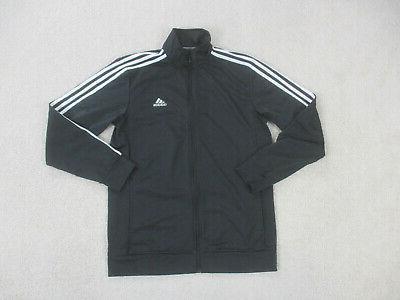 jacket adult medium black white stripes full