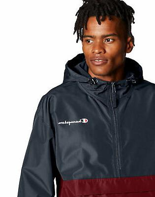 jacket mens colorblocked packable water wind resistant