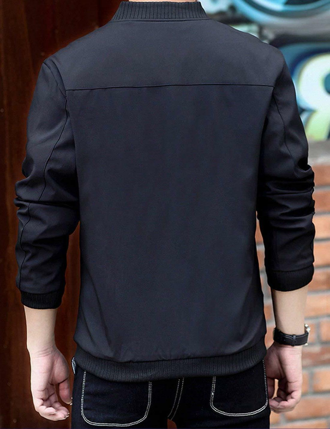 Lentta Men's Casual Slim Lightweight Softshell Zipper Bomber Jacket