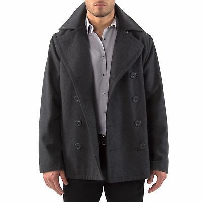 Alpine Swiss Mason Wool Jacket Breasted Coat