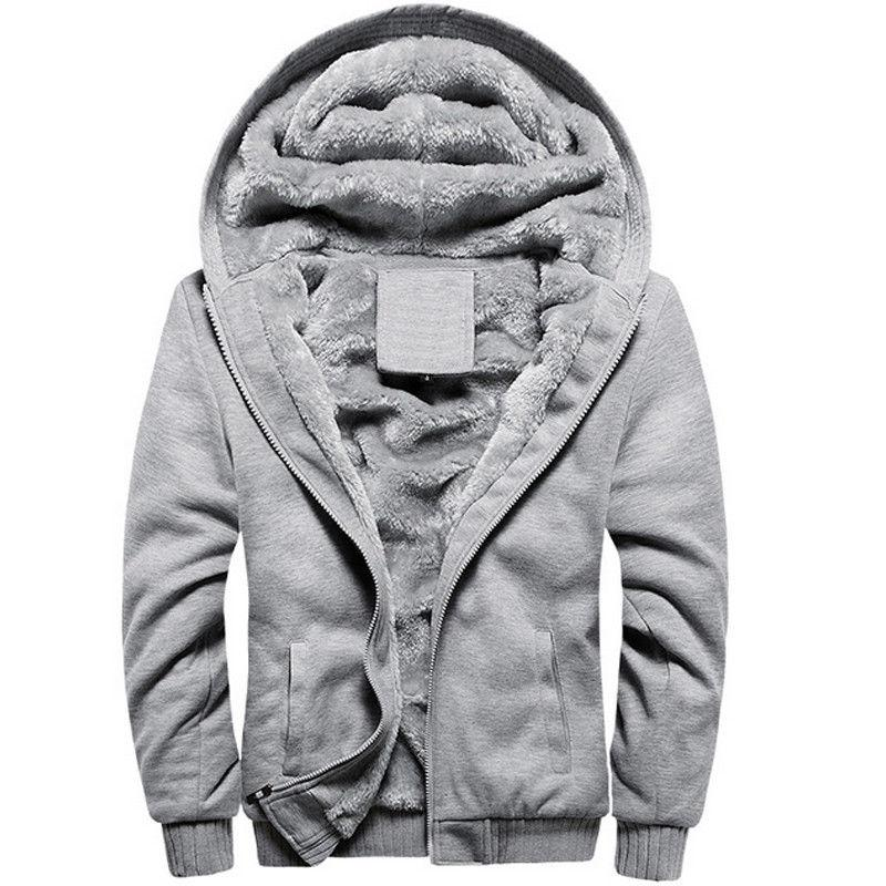 Men Warm Jacket Fleece Coat Oversize