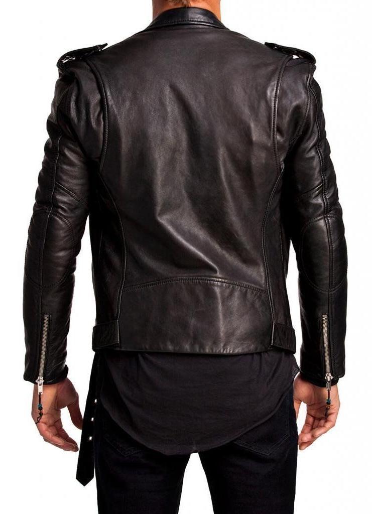 Men Leather Jacket Black Genuine jacket