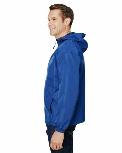 Champion Men's 1/4-Zip Hooded Pullover Pack-Away Solid Jacket CO200