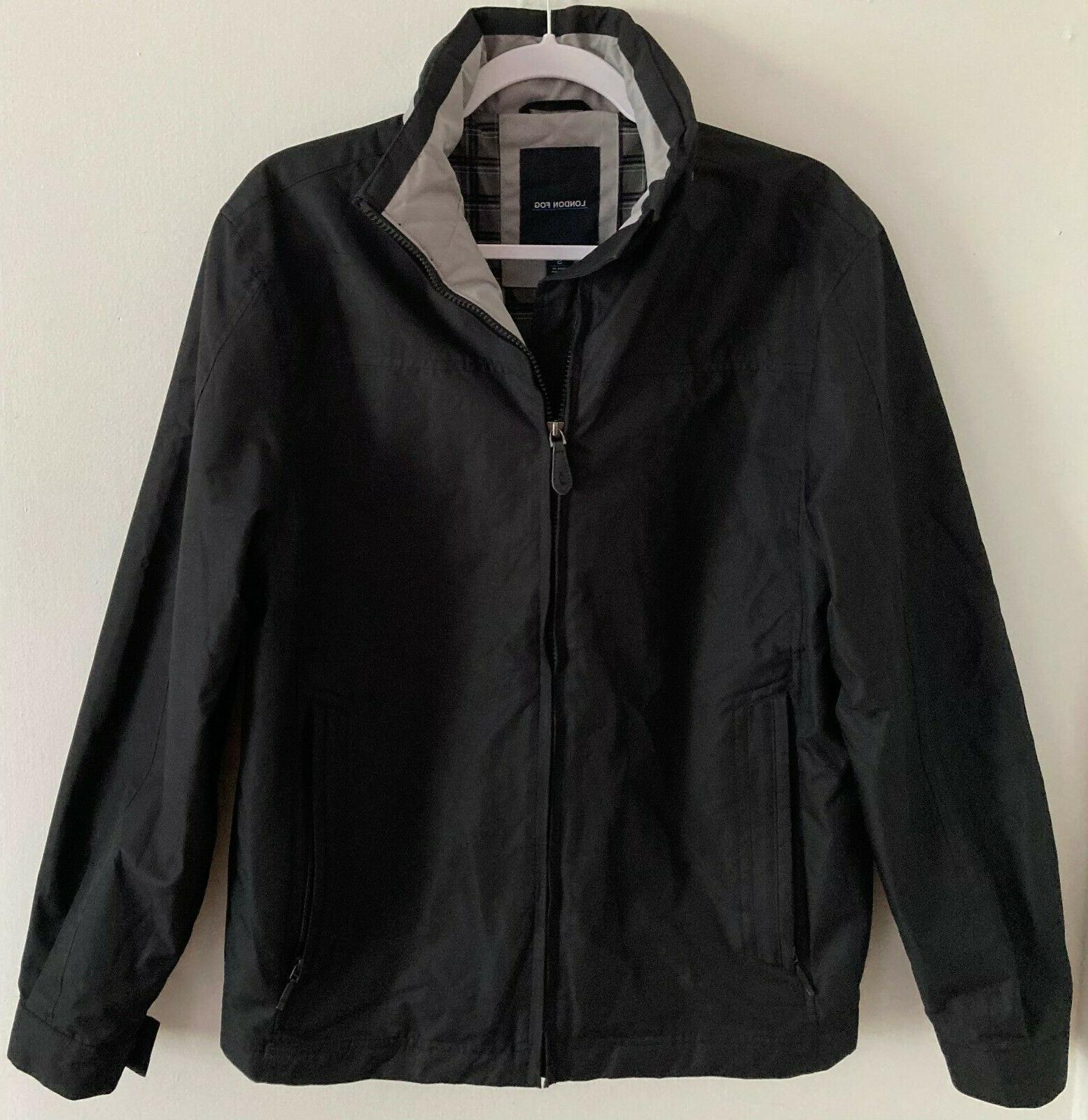 men s black bomber style jacket w