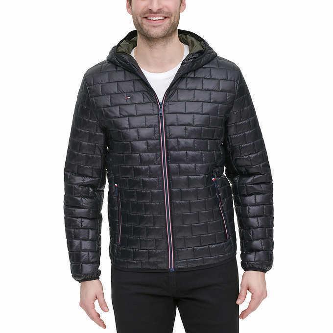 men s brick quilted jacket black select