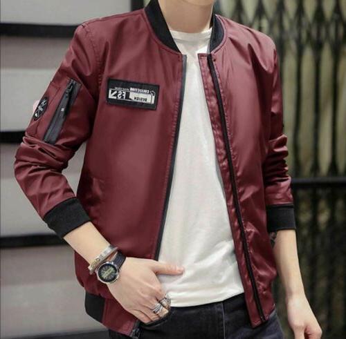 Men's Casual Zipped Bomber Jacket
