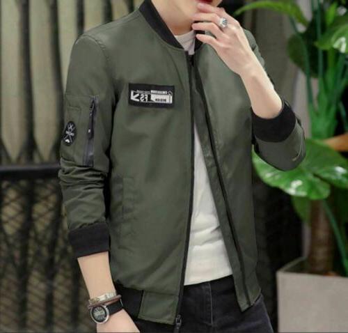 men s casual zipped up jacket