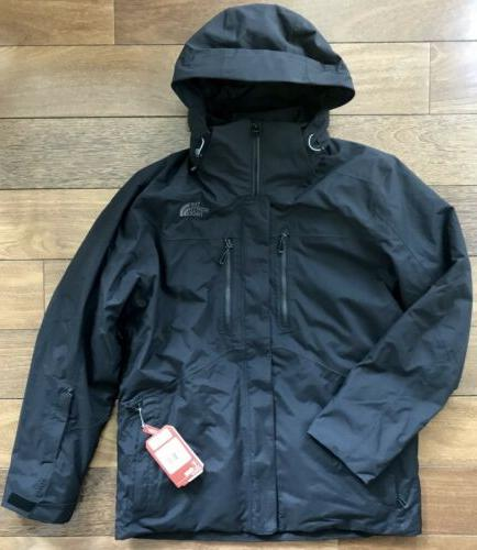 THE NORTH FACE Men's Clement Triclimate Jacket Ski Parka 1 Black Hooded
