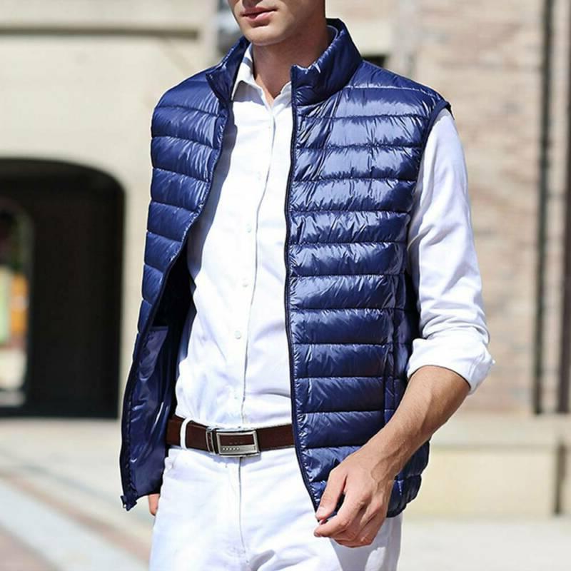 Men's Down Vest Sleeveless Warm Outwear