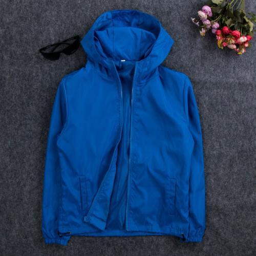 Men's Windbreaker ZIPPER Jacket Coat Gym New