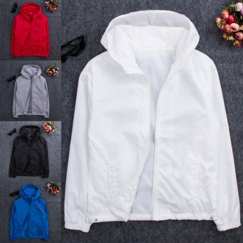 Men's ZIPPER Jacket Hoodie Sports Coat Gym US New