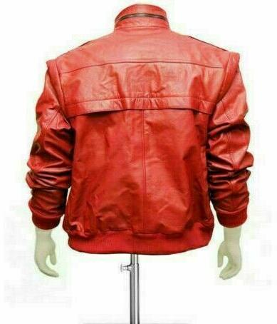 MEN'S FAUX LEATHER THE KARATE COBRA KAI RED JACKET
